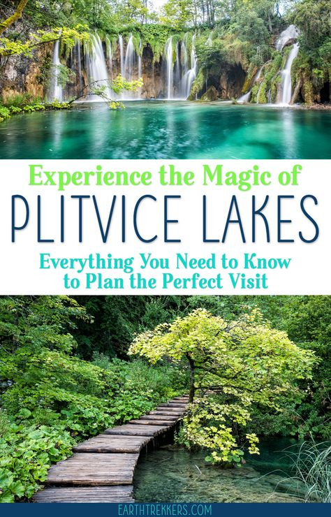 Plitvice Lakes Travel Guide. Best walking routes, best views, how to avoid the crowds, survival tips for summer, and where to stay. #plitvice #plitvicelakes #croatia #bucketlist