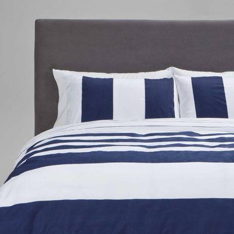 Indigo / navy stripe quilt cover - Fairhaven King Quilt Cover Set ... : navy white quilt - Adamdwight.com