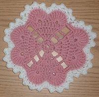 Hearts Around Doily - free crochet pattern
