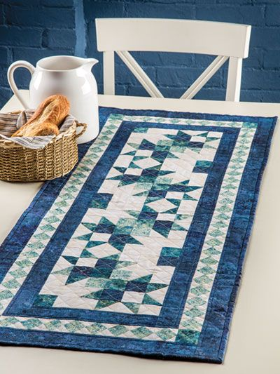 This Is A One Block Project That Would Make A Charming Addition To Any Table Finishe Quilted Table Runners Patterns Quilted Table Runners Table Runner Pattern