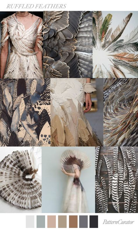 RUFFLED FEATHERS by PatternCurator | Saved by Gabby Fincham |