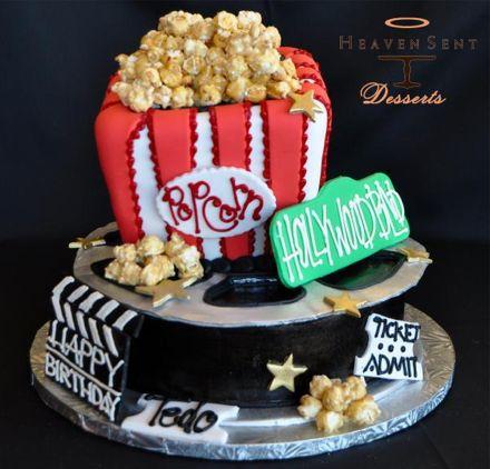 Hollywood-themed Birthday Cake