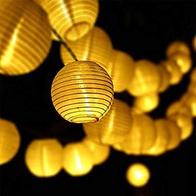 Led Lichterkette Solar Aussen Solarlampen 30 Led Warmweiss Lampion 8 Funktiontyp Fur Balkon Solarleuchte Garten W Led Lampions Lampion Lichterkette Solarleuchten