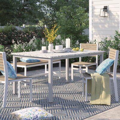 Sol 72 Outdoor Caspian Dining Table Top Colour Ash Outdoor Teak