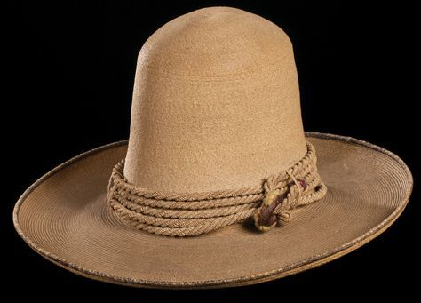 Early Californio Straw Hat Hard To Find Type Of Straw Hat With Original 5 Wrap Rope Hatband 8 Crown 4 Br Types Of Hats For Women Hats For Men Cowboy Hats