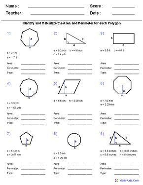 Geometry Worksheets Geometry Worksheets For Practice And Study Geometry Worksheets Area And Perimeter Worksheets Math Worksheets