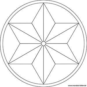 Mandala Malvorlage In Sternform Barn Quilt Patterns Mandala Pattern Mandala Art