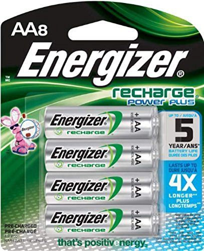 Energizer Recharge Power Plus Aa 2300 Mah Rechargeable Batteries Pre Charged 8 Count All4hiking Com Rechargeable Batteries Nimh Battery Energizer
