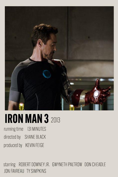iron man 3 minimalist poster