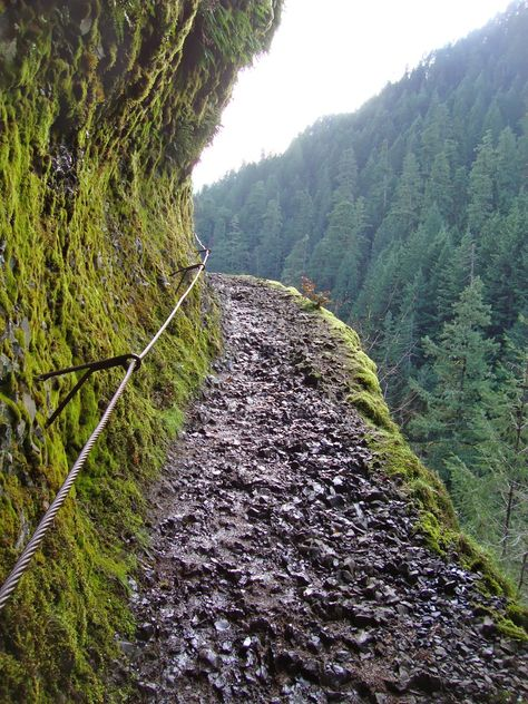 Punchbowl Falls. Day hikes in the Pacific NW. Quick and easy hike in the Columbia River Gorge in Oregon.