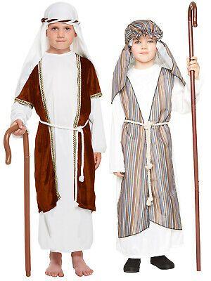 Joseph Nativity Boys Fancy Dress Christmas Shepherd Childrens Kids Child Costume
