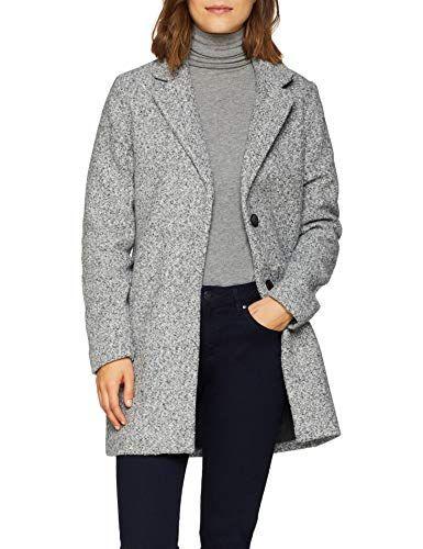 nouvelle collection b49a1 e58ab Only Onlarya Coat OTW Manteau Femme Gris Light Grey Melange ...