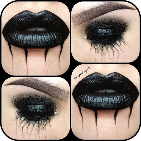 Schwarze Lippen und finsterer Lidschatten - LIKE!