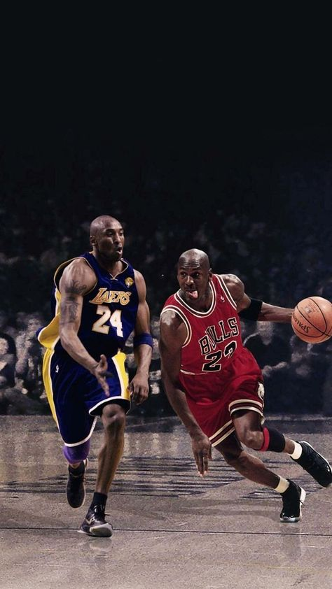 Kobe Bryant and Michael Jordan For all National Basketball Association(NBA) Fans #basketballpictures