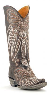 Womens Old Gringo Lakota Cowboy Boots Chocolate #L1135-6