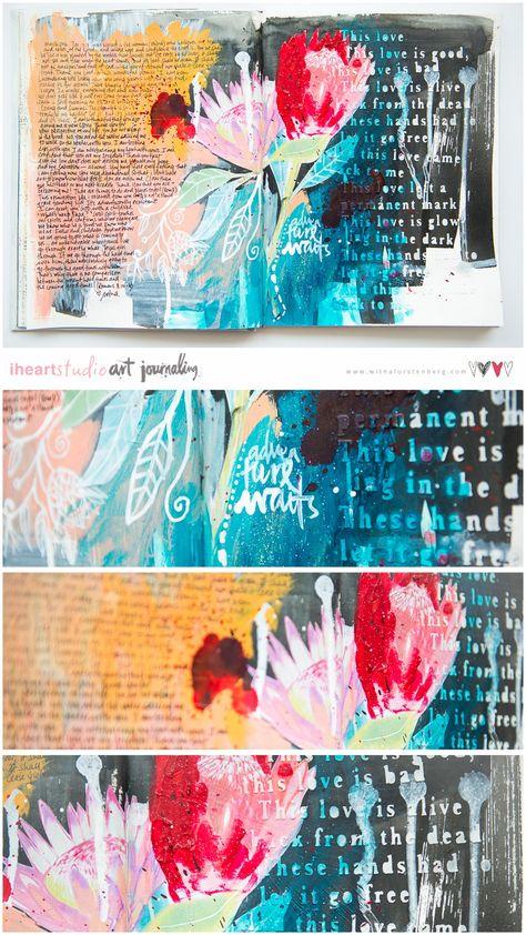 Last Adventure Art Journal Page   Wilna Furstenberg Blog
