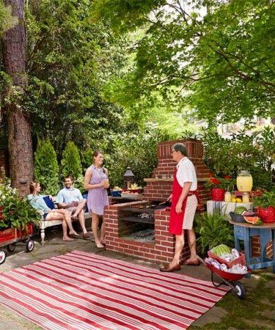 年中ガーデンパーティ 自宅の庭にdiyでbbqピット バーベキューピット 庭でバーベキュー 庭