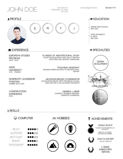 Gallery of The Top Architecture Résumé CV Designs - 18 Resume - architectural resume