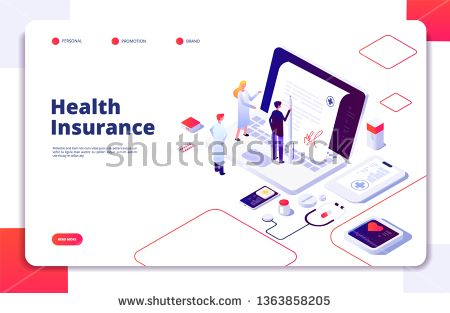 Stock Vector Health Insurance Concept Family Medical Health Life