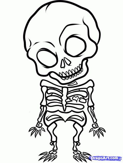 Cute Simple Skull Tattoo Designs