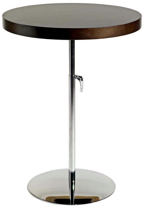 Raymond Adjustable Height Wenge Accent Table | LampsPlus.com