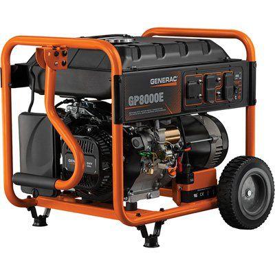 Generac 10000 Watt Generator >> Generac Portable Generator 10 000 Surge Watts 8000 Rated Watts