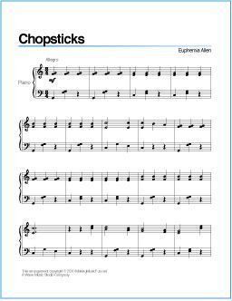 Chopsticks Free Printable Sheet Music For Easy Piano Scheduled