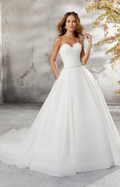 Mori Lee Bridal 5696 Is A Lovely Organza Ball Gown This Dress Has A Sweetheart Neckline And Mori Lee Wedding Dress Ball Gowns Wedding Ball Gown Wedding Dress