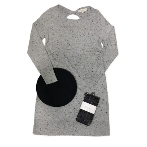 c83aa19c476 Dress  Flecked Cutout Back Sweater Dress