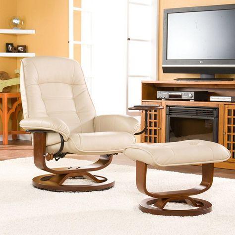 Brilliant Southern Enterprises Leather Swivel Recliner With Ottoman Uwap Interior Chair Design Uwaporg