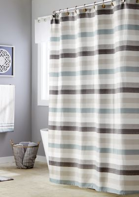 Skl Home Westwick Stripe Shower Curtain Gray Standard Shower Curtain In 2020 Striped Shower Curtains Curtains Grey Curtains