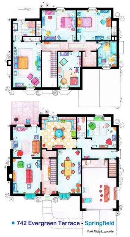 Apartment Layout Floor Plans Tv Shows 48 Ideas Tv Show House Floor Plan Drawing Show Home