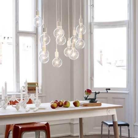 E27 Pendant Light From Muuto Cluster Arrangement In White Scandinavian Lighting Dining Room Pendant Scandinavian Chandeliers