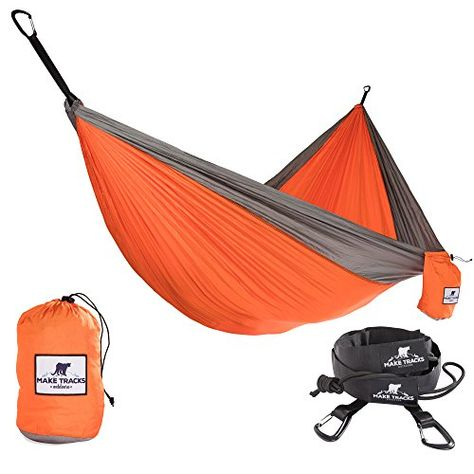 Camping Double Hammock Heavy Duty Premium Features Ripstop durable material