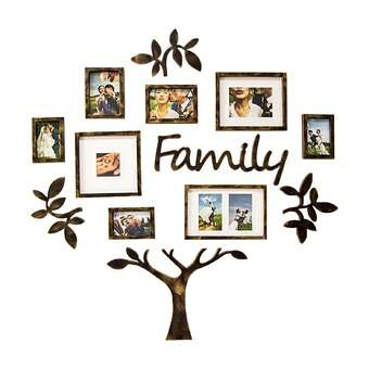 Nealy 13 Piece Collage Picture Frame Set Family Tree Picture Frames Family Tree Photo Frame Family Tree Frame