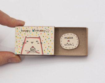 Cute Birthday Card Matchbox/ Cute Birthday Card/ от 3XUdesign