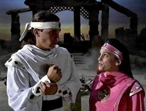 The Power Rangers Photo: Tommy Oliver and Kimberly Hart.