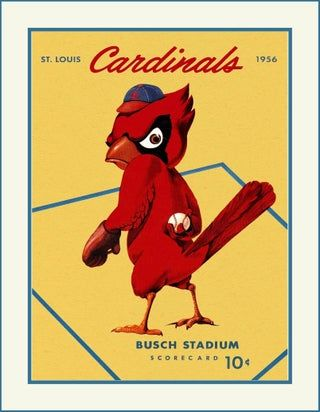 1956 Cardinals Wall Art Poster St Louis Memorabilia Wall Decor A Great Gift For Any Cardinals Fan This Read In 2020 Wall Art Gift St Louis Cardinals Poster Wall Art