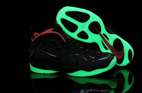 1716d1ed0150 Free Shipping Only 69  Nike Air Foamposite Pro Yeezy Black Green Glow in  the dark