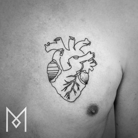 single line tattoo kosten