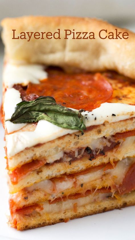 Layered Pizza Cake