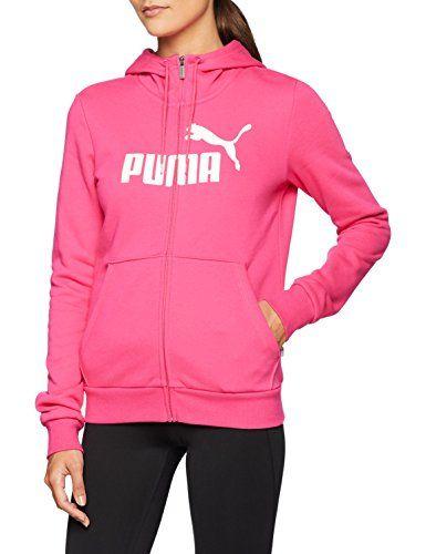 PUMA Ess Logo Hoody FL Felpa Donna