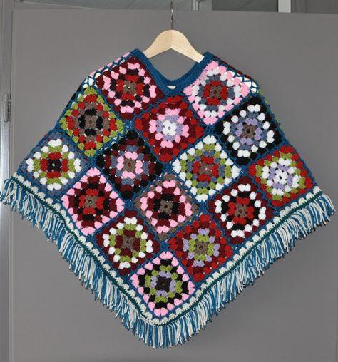Chris In De Haak Granny Poncho Haken Crochet Poncho Crochet En