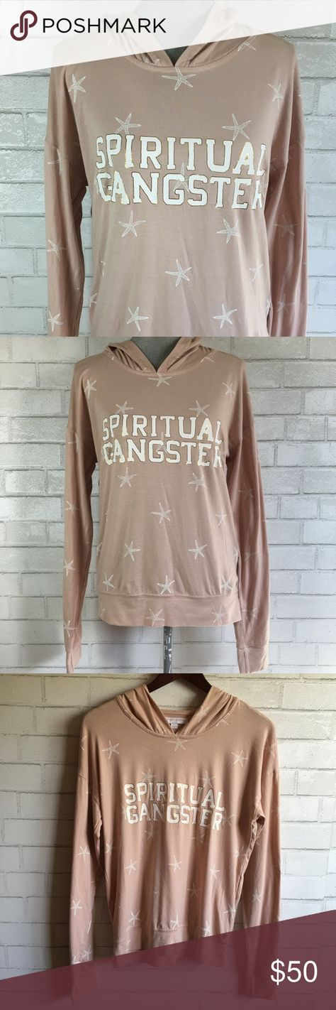 Spiritual Gangster Varsity Hoodie Coconut Starfish Spiritual Gangster Women's Varsity Hoodie Coconut Starfish Light Pink Size Small Retail $90 Condition: Excellent Used Condition  Size: Small Measurements: Armpit to armpit: 19