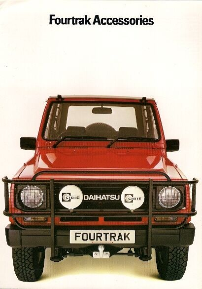 Daihatsu Fourtrak Accessories 1984 85 Uk Market Sales Brochure