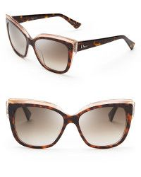 e8aab6a8fd Italia Independent Oversized Velvet Cat Eye Sunglasses