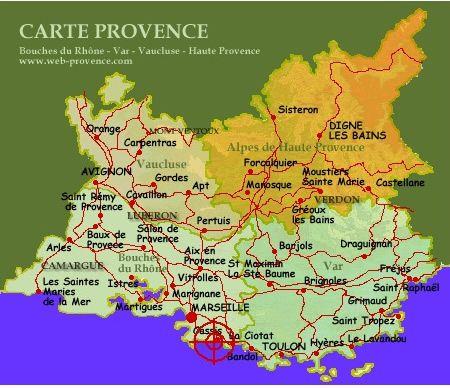 Cassis Carte De La Provence Cassis Marseille Bouches Du