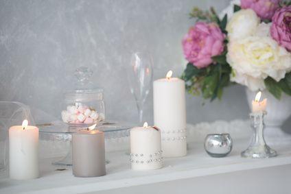 Kerzen Stumpenkerzen Fruhling Dekoration Dekoration