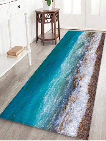 Blue Ocean Beach Sea Wave Area Rugs Bedroom Carpet Kitchen Floor Mat Doormat Rug