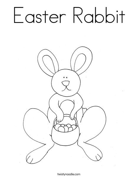 Easter Rabbit Coloring Page Twisty Noodle Easter Coloring Pages Easter Rabbit Coloring Pages